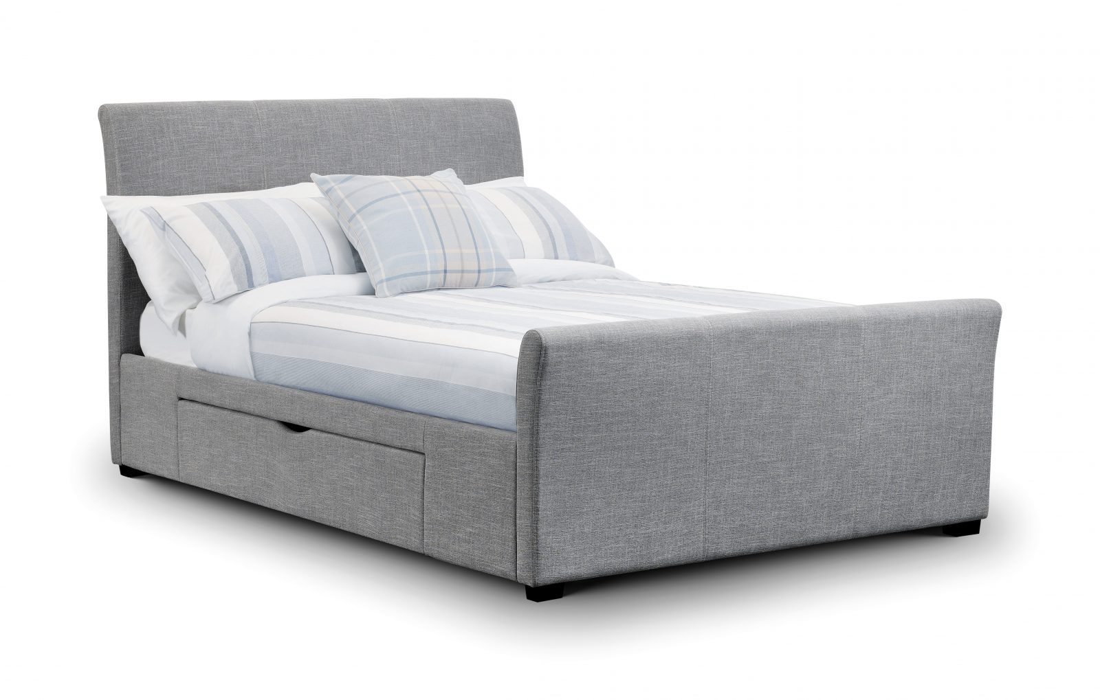 Capri Double Fabric Bed Frame with Drawers