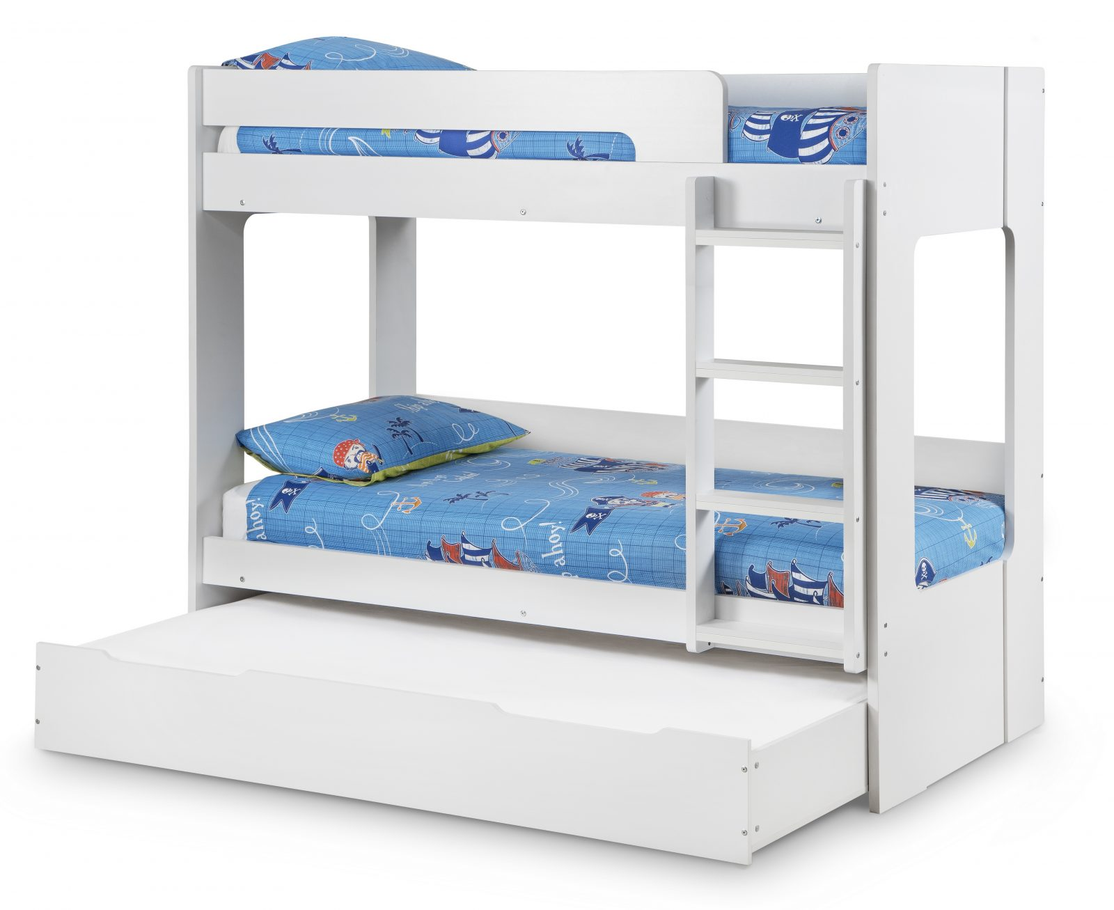 Ellie White Bunk Bed with Underbed