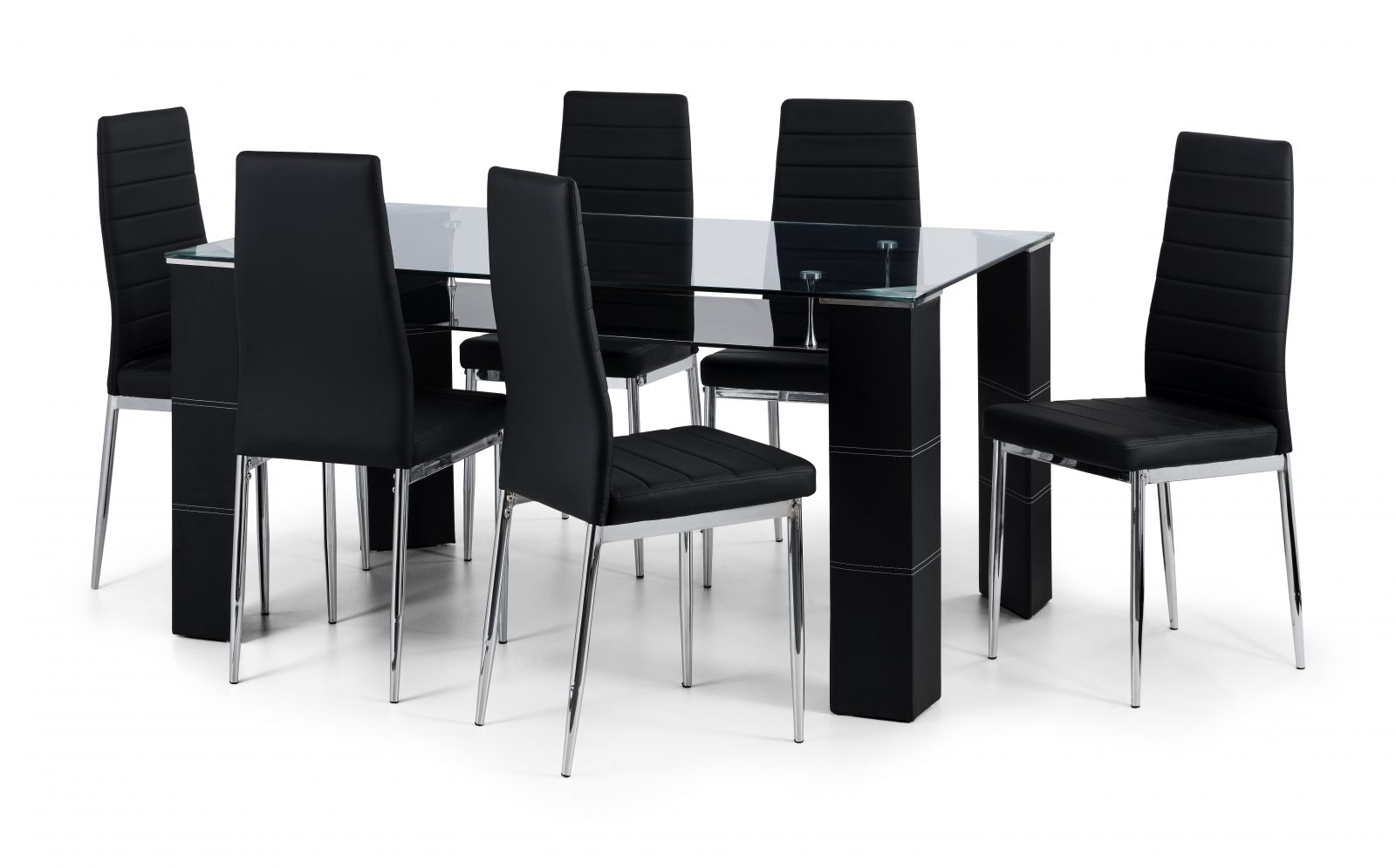 Greenwich Glass Table + 4 Chairs