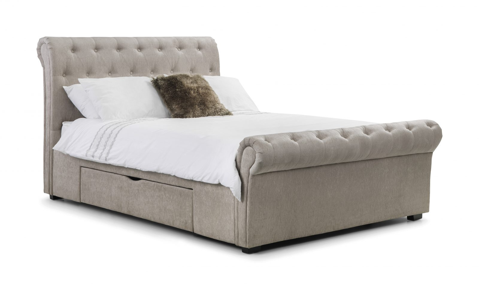 Ravello Double Fabric Bed Frame with Drawers