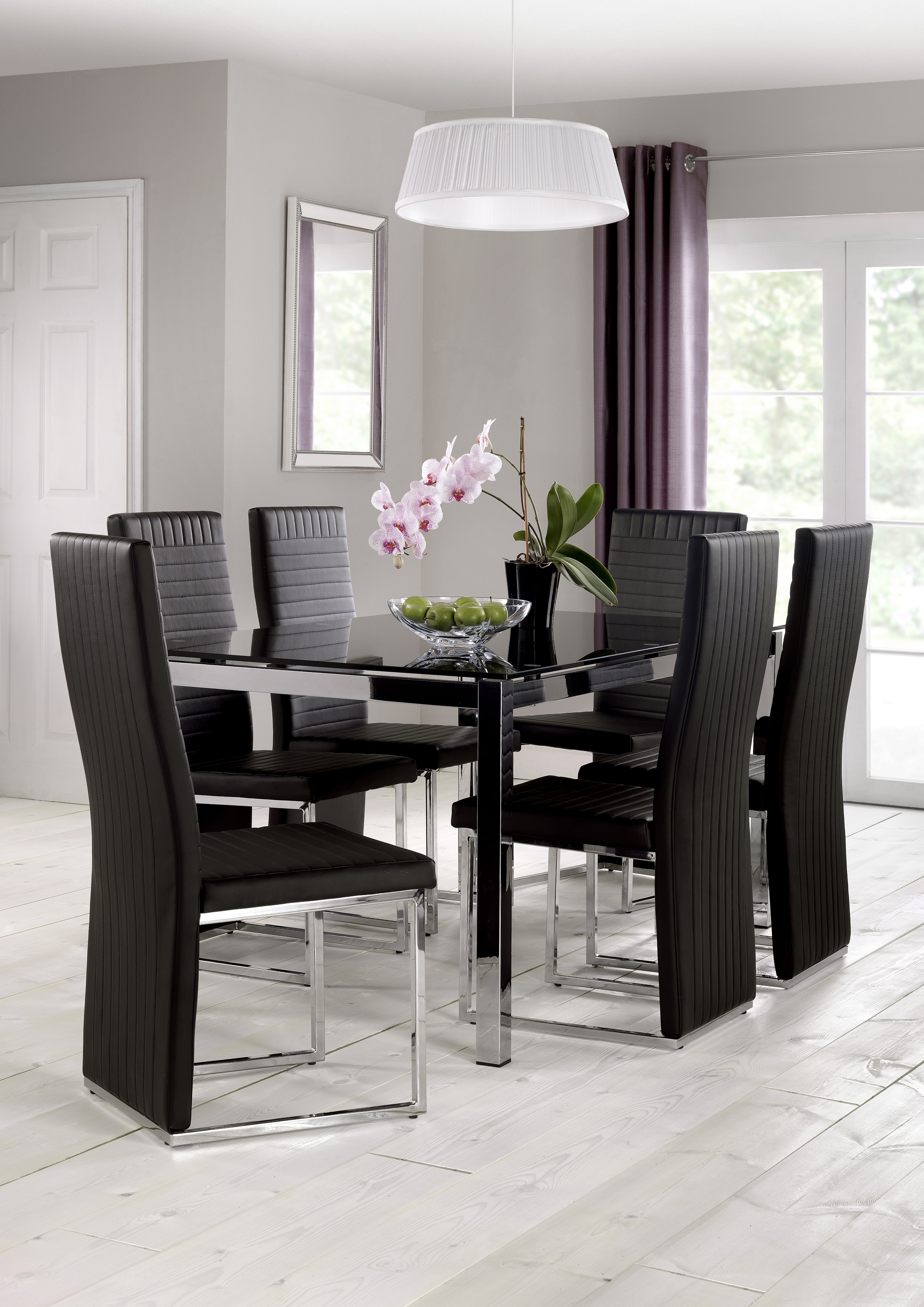 Tempo Glass Table + 6 Chairs