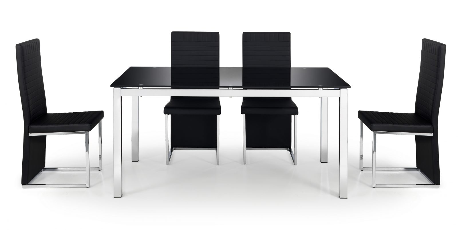 Tempo Glass Table + 4 Chairs