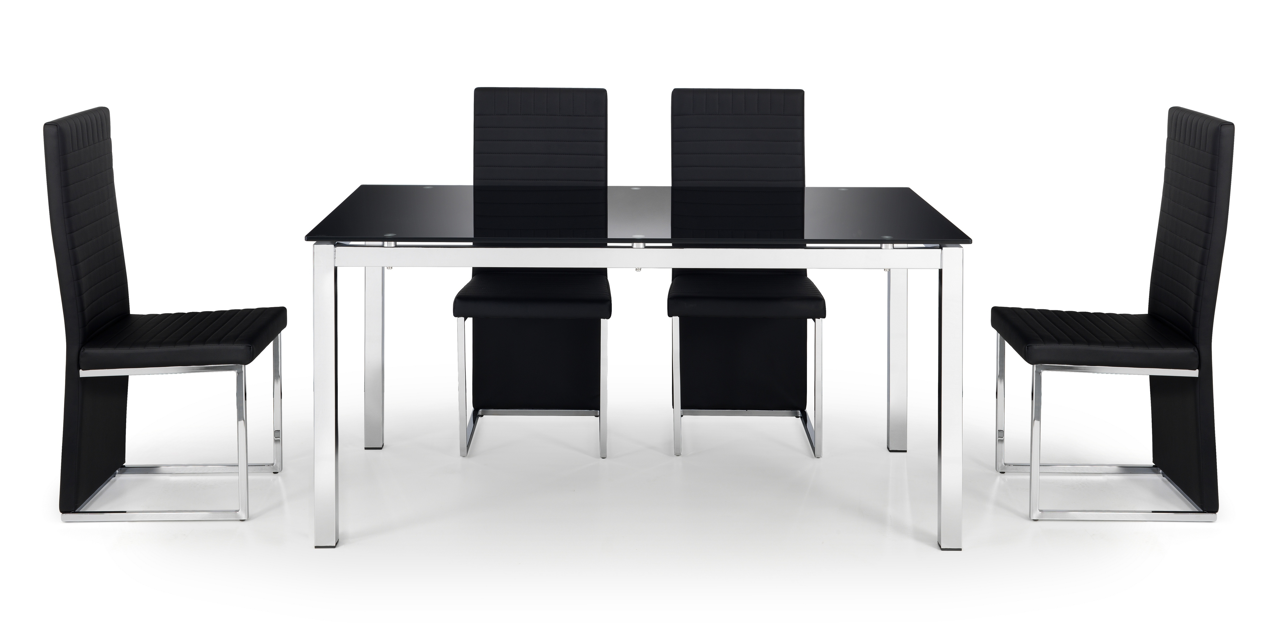 tempo glass table 4 chairs quick delivery telly 4u. Black Bedroom Furniture Sets. Home Design Ideas