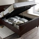 Allendale Ottoman Bed, Brown, Open