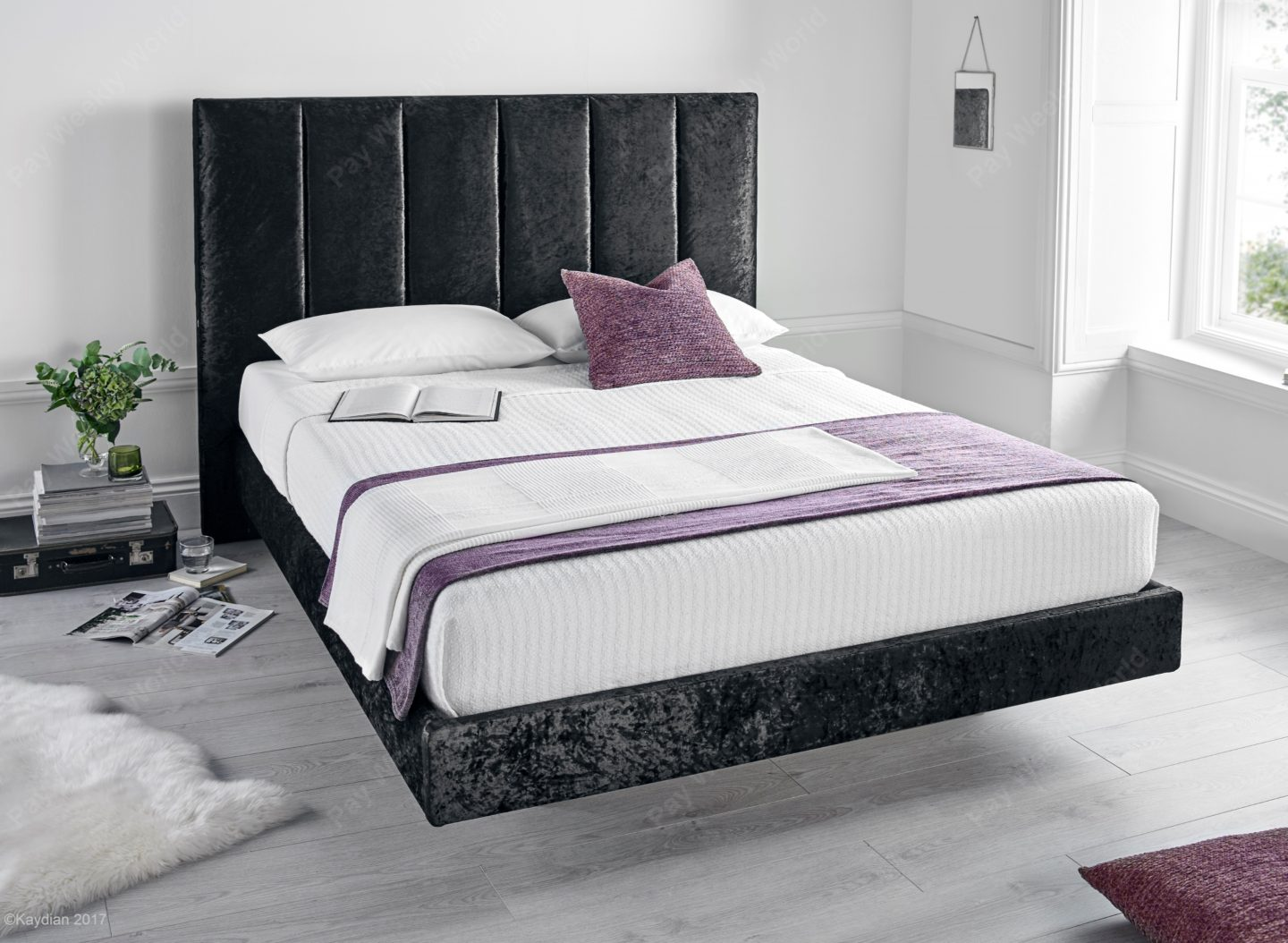 Clarice Crushed Velvet Range - Black