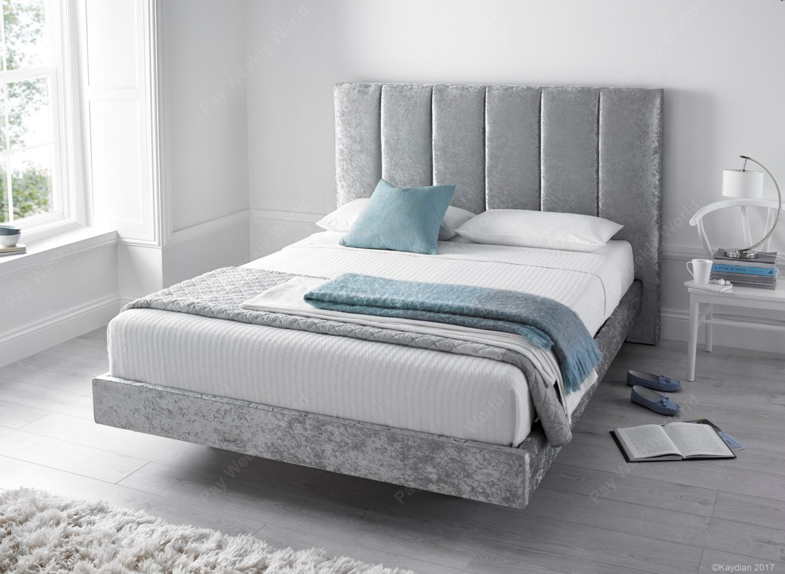 Clarice Silver Bed Frame – Double