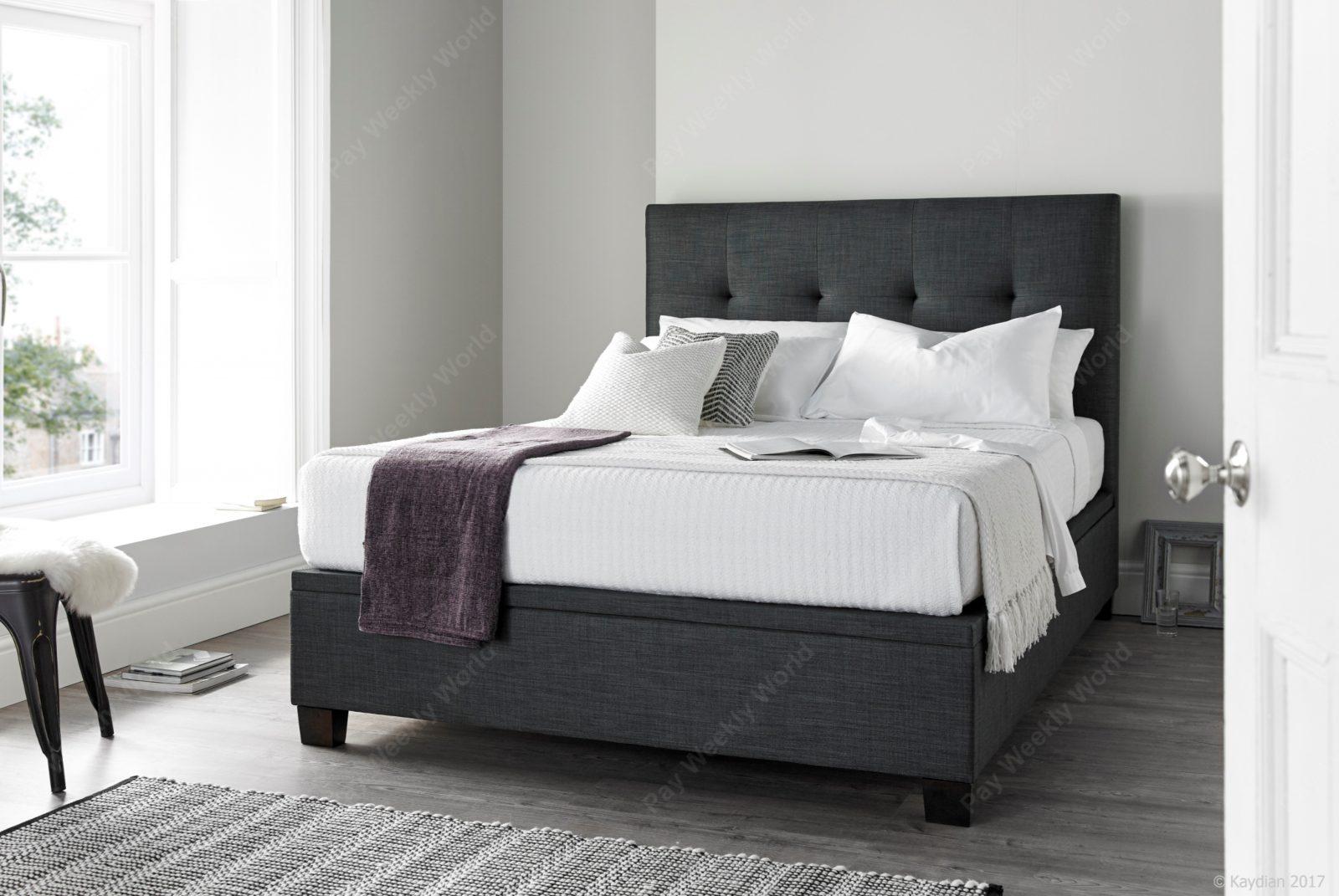 Walkworth Ottoman Slate Bed Frame – Double