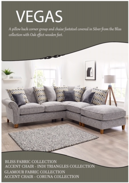 Vegas Large Chaise Sofa
