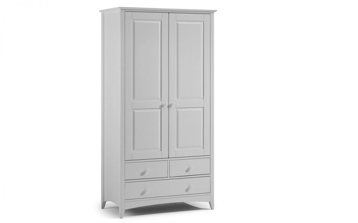 Cameo 2 Door Combination Wardrobe – Dove Grey