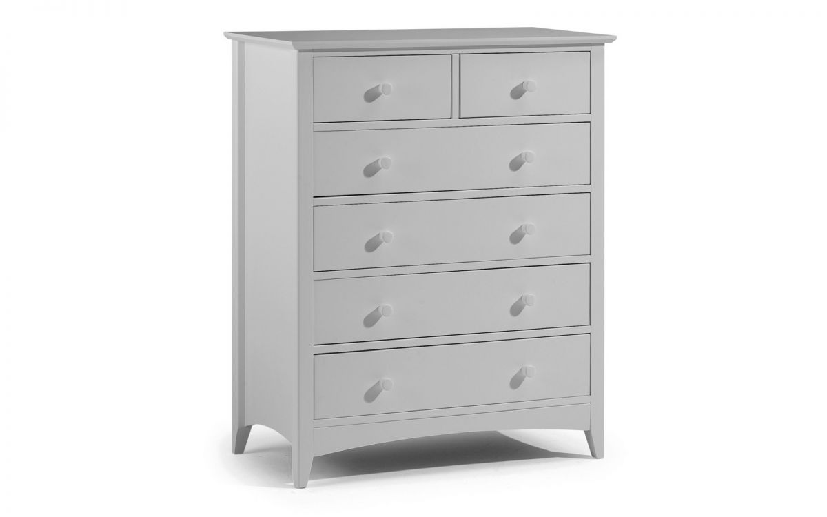 Cameo 6 Drawer Chest – Dove Grey